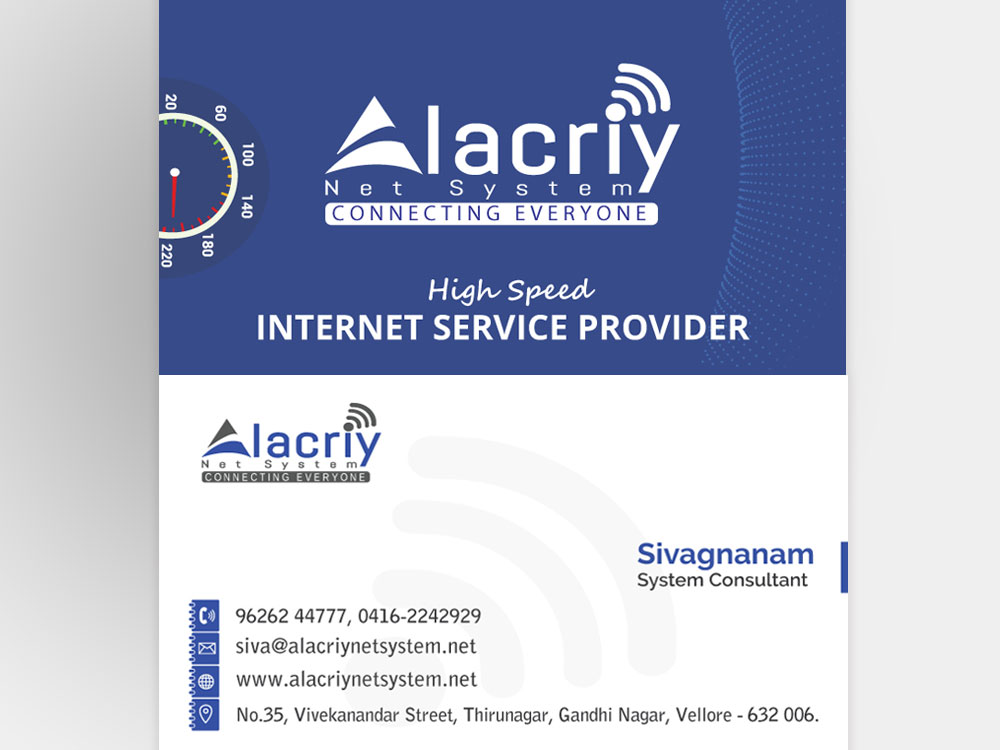 business card alacriy net  u2013 rainplus infotech