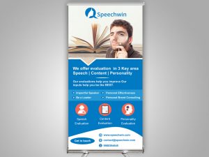 Speechwin Standee Design