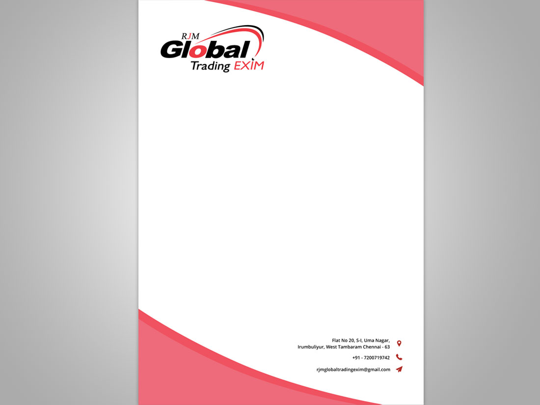 Letterpad for Export Company