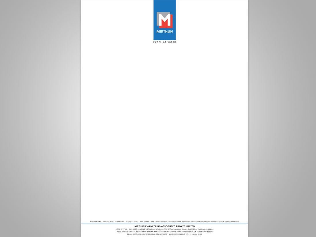 Letterpad for Engineering & Construction Company