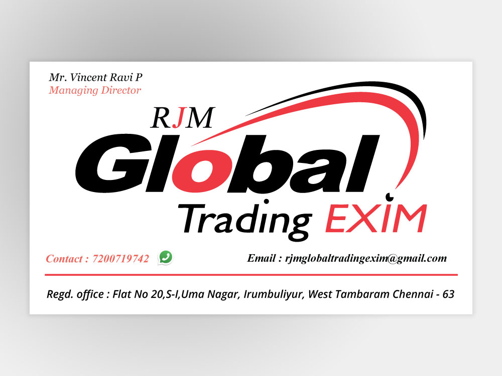 Business Card For Global Trade